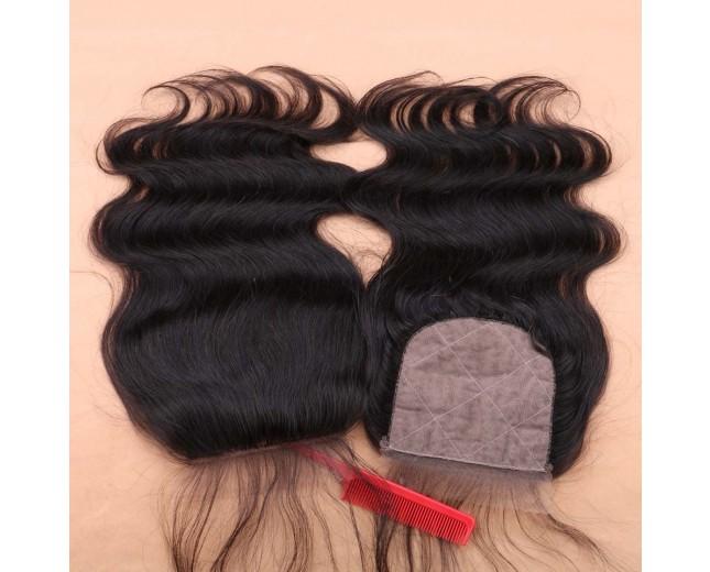 Peruvian Hair Silk Base Closure Body Wave 4''*4''  LC0024