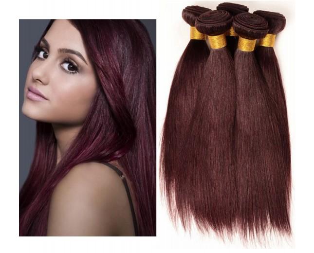 Brazilian Virgin Hair Weave Straight 99J# BV0042