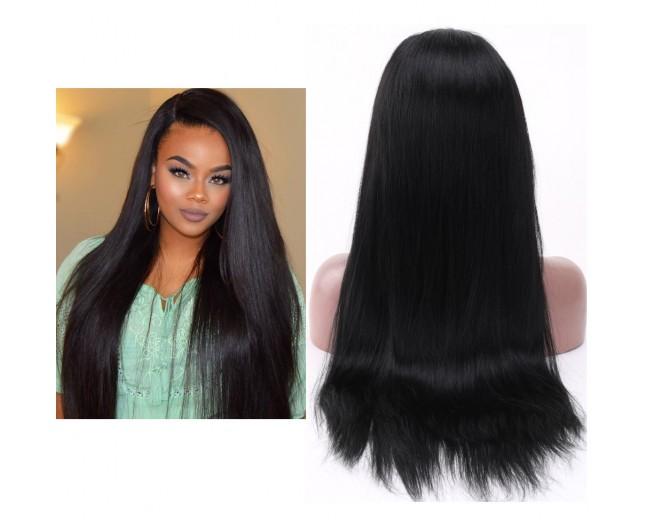 Glueless Full Lace Wigs Straight Brazilian Virgin Hair FLW001