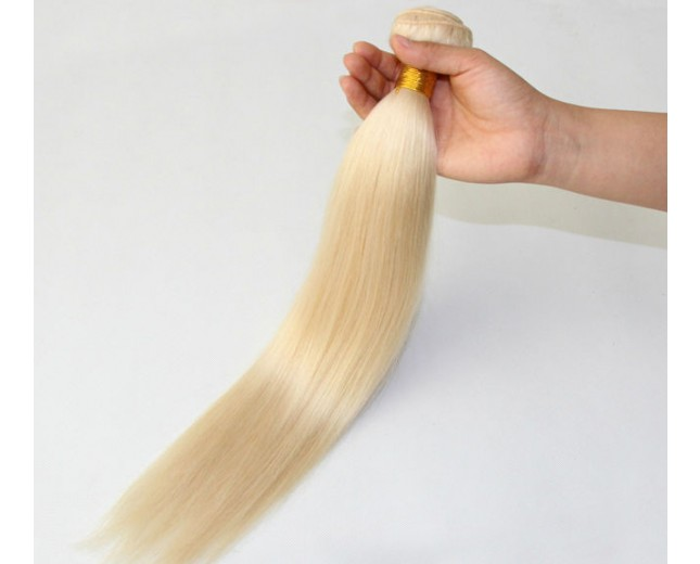 Bleach Blonde #613 Straight Brazilian Remy Virgin Hair BV0017