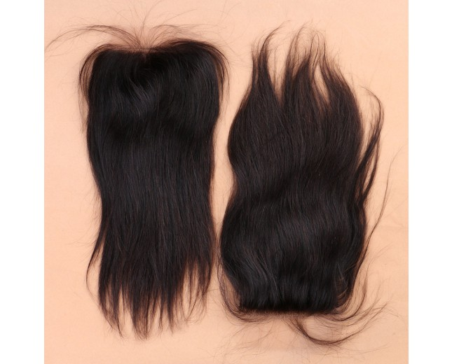 Peruvian Straight Silk Base Closure 4''*4''  LC0026
