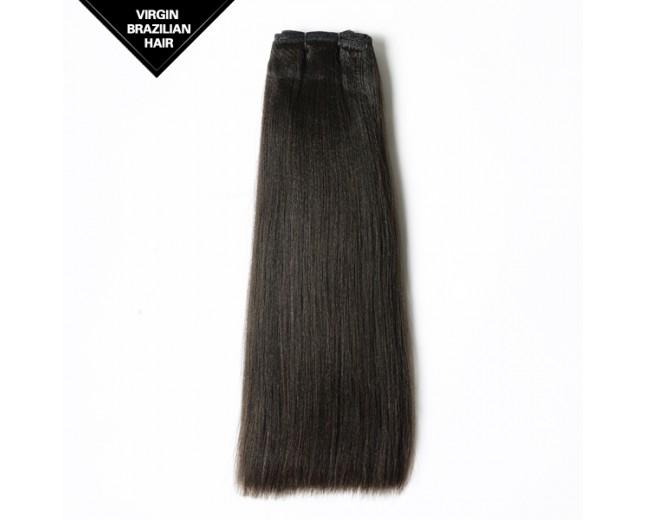Double Drawn Light Yaki Brazilian Virgin Hair Weave BRV009