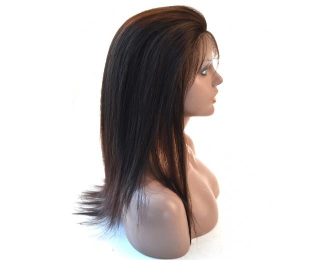 Light Yaki Glueless Full Lace Wigs Brazilian Virgin Hair FLW003