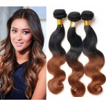 3pcs/lot Brazilian Ombre Body Wave Remy Hair Two Tone Color 1B/30# BR0038