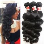4pcs/lot Peruvian Loose Wave Virgin Hair Weave Bundles PD0022