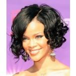 100% Brazilian Human Hair Lace Front Wigs Bouncy Curls LFW0057