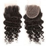4''*4'' Deep Wave Lace Closure Virgin Brazilian Hair LC006