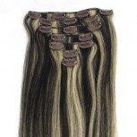 #1B/613 Clip In Hair Extensions Straight CR007