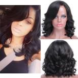 New Bob Loose Wave Brazilian Virgin Hair Lace Front Wigs LFW0073