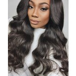 100% Human Hair Loose Wave Lace Front Wigs Middle Parting LFW0064