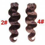 2# 4# Brown Malaysian Virgin Hair Weave Body Wave MR001