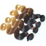 2pcs/lot Body Wave Brazilian Remy Hair Ombre Hair 1B/4/27# BR0022