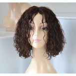 Fashion 12inch Natural Curly Bob 100% Human Hair Lace Front Wigs LFW0056