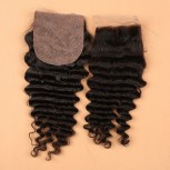 Brazilian Deep Wave Silk Base Closure 4''*4'' LC0010