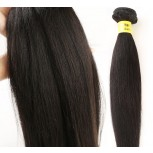 Light YAKI Straight Virgin Brazilian Hair Weave BV007