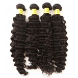 4pcs/lot Brazilian Deep Curly Virgin Hair Weave Bundles BD0065