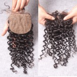 Brazilian Curly Silk Base Closure 4''*4''  LC0095