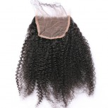 Afro Curly Lace Closure Virgin Brazilian Hair LC0040