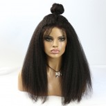 Kinky Straight Brazilian Virgin Hair Lace Front Wigs LFW002