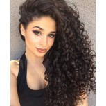 Deep Curly Full Lace Wigs Brazilian Virgin Hair FLW008