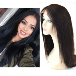 Middle Part Straight Glueless Full Lace Wigs Brazilian Virgin Hair FLW005
