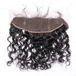 """Peruvian Natural Curly Lace Frontal 13""""*4"""" Ear to Ear Full Frontal Lace Closure LC0056"""