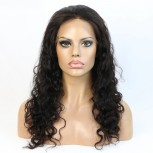 Small Waves Brazilian Virgin Hair Glueless Full Lace Wigs FLW0060