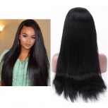 Glueless Full Lace Wigs Straight Brazilian Virgin Hair FLW001