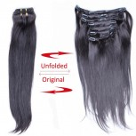 120G Brazilian Straight Clip in Human Hair Extensions CR0021