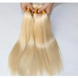 3pcs/lot Brazilian Virgin Remy Hair Straight Bundles Bleach Blonde 613# BD0054
