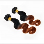 2pcs/lot Body Wave Brazilian Remy Hair 1B/30# Ombre Hair BR0020