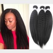 3pcs/lot Kinky Straight Virgin Brazilian Hair Mixed Length BD0013