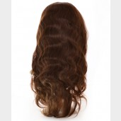 Brown (4#) Body Wave Full Lace Wigs Brazilian Virgin Hair FLW0012