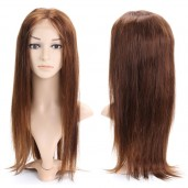 #4 Brown Silk Straight Full Lace Wigs Brazilian Virgin Hair FLW002