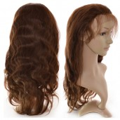 Brown(#4) Body Wave Lace Front Wigs Brazilian Virgin Hair LFW0013