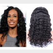 Deep Wave Lace Front Wigs Brazilian Virgin Hair LFW0014