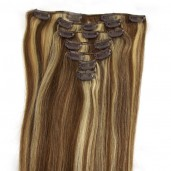 #6/613 Clip In Hair Extensions Straight CR009
