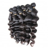 3 Bundles Loose Wave Brazilian Virgin Hair Weave Mixed Length BD005