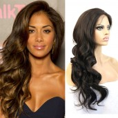 100% Brazilian Big Waves Lace Front Human Hair Wigs LFW0011