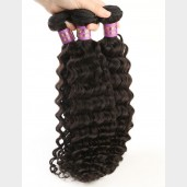 3pcs/lot Deep Curly Virgin Malaysian Hair Weave Bundles MD002