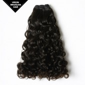 Double Drawn Curly Brazilian Virgin Hair Weave BRV005