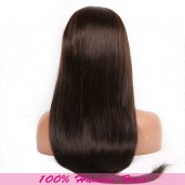 Brown(#2) Straight Lace Front Wigs Brazilian Virgin Hair LFW001