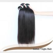 Straight Indian Virgin Hair 100% Human Hair Weave IV001