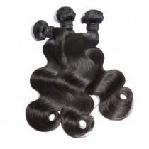 3pcs/lot Virgin Brazilian Hair Weave Bundles Body Wave Mixed Length BD001
