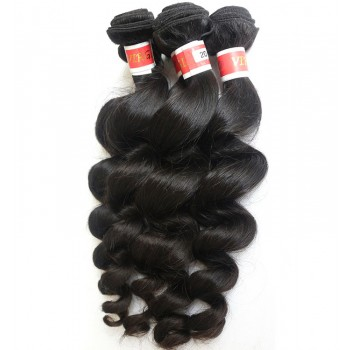 3pcs/lot Loose Wave Virgin Peruvian Hair Mixed Length PD002