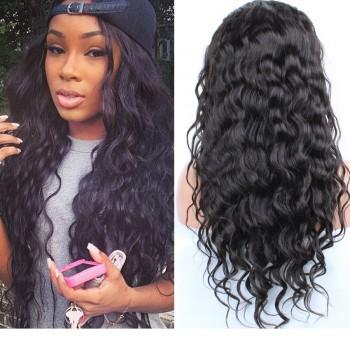 Water Wave Brazilian Virgin Hair Lace Front Wigs LFW0034