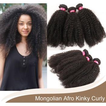 3pcs/lot Mongolian Afro Kinky Curly Virgin Hair Bundles GD004