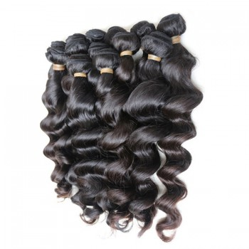 3 Bundles Loose Wave Brazilian Virgin Hair Weave Mixed Length BD005