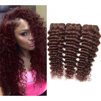 Brazilian Curly Virgin Hair Weave 99J# Burgundy BV0046
