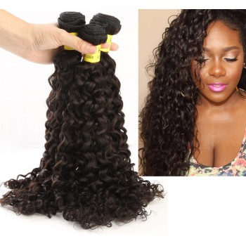 3 Bundles Curly Brazilian Virgin Hair Weave 100% Human Hair Bundles BD002